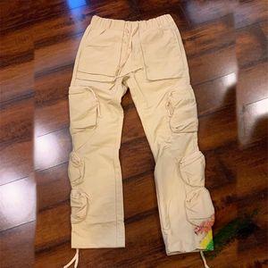 Pants bolso de carga Homens Mulheres melh Joggers Cordão Sweatpants Calças