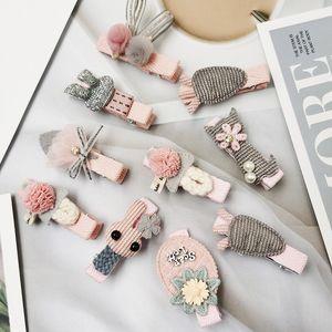 tdmxW Korean Stoff Korean Fabric Zubehör Kindersechsteilige Kombination nette Student Mädchen BB Clip-Haarclip-Haarzusätze