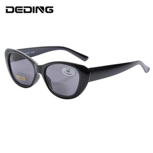 Cat Eye Bifocal Sonnenbrillen Bifocal Lesebrille Frauen Männer Marke Lese UV400 Sonnenbrille 1,0-3,5 DD1507
