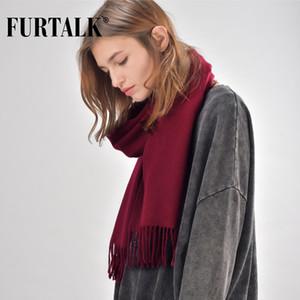 FURTALK invierno de lana 100% de las mujeres de la bufanda de los hombres chales de hombres y mujeres