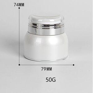 50г жемчужно-белый крем бутылка пресс AS безвоздушного бутылки бутылки косметический крем
