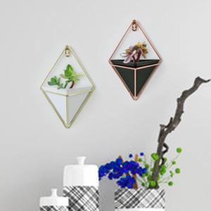 Geometric Flower Pot Trays Ledge For Home Office Hanging Planter Vase For Succulent Plants Interior Wall Vase Decor 1PC
