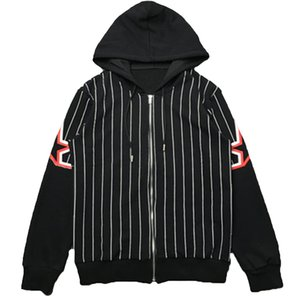 Mens Stylist Jacket Outerwear Men Women High Quality Stripe Printing Jackets Fashion Mens Stylist Hooded Coats Size M-XXL