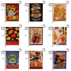 Nuovo Ringraziamento Deorations Giardino Bandiera di Halloween Doppia stampa Zucca Hanging Banner Bandiere casa della decorazione del partito Benvenuti 47 * 32 centimetri SN1759