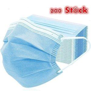 Pc 3 strati monouso Bocca copertura 50/100/200 Masken 50pcs / box