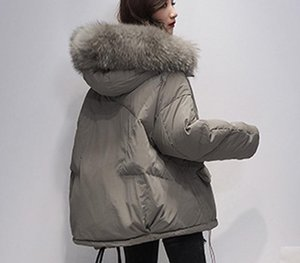 Women's Winter Down Jacket Large Real Raccoon Fur Hooded 90% Duck Down Coat Female Parkas Ladies Feather Puffer Jackets Oversize T200905