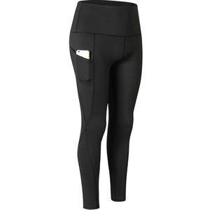 2020 mujeres calientes ultra-alta de la cintura de los pantalones de yoga Diagonal bolsillo aptitud que se ejecuta pantalones de secado rápido pantalones de entrenamiento flaco Deportes