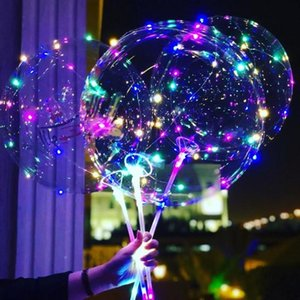 1set 18 24 36inch Led Luminous Balloons 3M LED Air Balloon String Lights Bubble Helium Balloon Wedding birthday Party Decoration