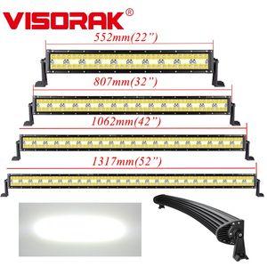 "Visorak 22 32 42 52"" Curved campo a través del trabajo del LED Light Bar 4WD 4x4 SUV ATV del tractor para el carro"