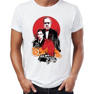 Maglietta degli uomini Il Padrino Film Vito Corleone e Michael Corleone Horse Head Artsy Tee