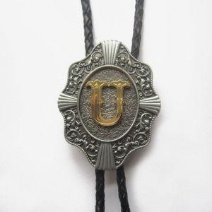 Occidentale lettera originale U V W X Y Z Bolo Tie libero di spedizione disponibile Uomini Bolo Tie