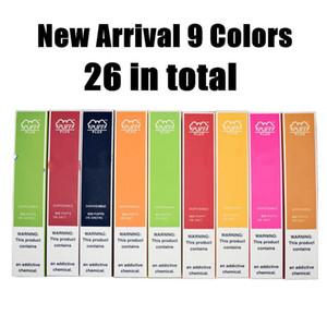 Hot 35 cores Puff Além disso descartável Vape dispositivo 800 Puff 3,2 mL Pré Cheio Pods Vape Cartucho Puff Bares E-cigarro