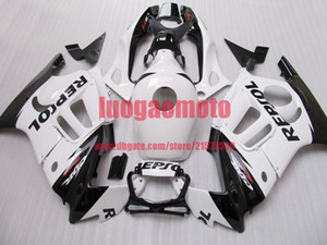 Gifts ABS injection Motorcycle cowling white and blk bodywork fairings kit for Honda CBR600 1997 1998 CBR 600 F3 97 98 fairing kit+Tank