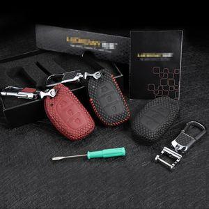 Держатель ключа кожа Key Cover 2012-2020 для Hyundai IX25 IX35 Elantra Sonata Verna Mistra Solaris G3 Shell Protector