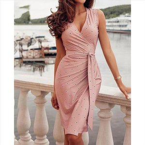 Bandage Womens Dress Casual Sleeveless Fantastic Ladies Dresses For Girls Fashion Printed Cloth Party Wedding Guest Vestidos