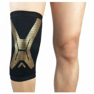 All'ingrosso 1Pcs Sport Knee Pad Ciclismo traspirante ginocchio della gamba di supporto Brace Wrap protezione del ginocchio rilievi di pallacanestro Ginocchiere 4 colori Tjnh #