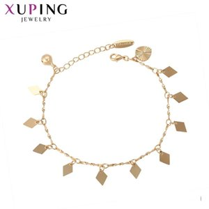 Xuping Fashion Elegant Gold Color Plated Bracelets Popular Design Bracelets Jewelry Gift for Wedding Romantic S215.1-76575