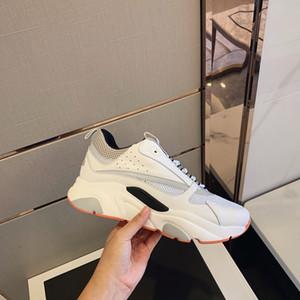 2020 Последний дизайн обувь Tri-Color COW кожаный технический материал камуфляж шаблон кроссовки повседневные туфли мода тренд удобный дыхание