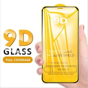 New 9D cobertura completa Protetor de Tela para 2020 iPhone 12 11 Pro Max XS Max XR vidro temperado para Xiaomi Protector Film