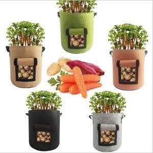 Bitki Yetiştirme Çanta Domates Patates Grow adındaki Çanta Dokuma Havalandırma Bitki Pot Sebzeler Çanta Saksı Ev Bahçe Dikim Aksesuarları GWA1429