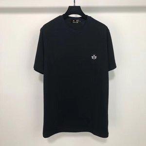 럭셔리 파리 CD 브랜드 남성 여성 캐주얼 패션 T 셔츠 O-목 새로운 반팔 T 셔츠 자수 꿀벌 티셔츠 조커 유행 브랜드 T 셔츠