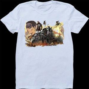 Mad Max Fury Yol Furiosa Mens Beyaz Custom Made Tişört Özel Özel Tee Gömlek yazdır