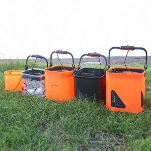Outdoor EVA Bucket Folding Bucket Portable Camping Fishing Bags Live Fish Water Storage Tools Carp Fishing Tackle 29jO#