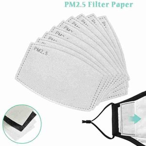 Adult And Kids PM2.5 Masks Filter Anti Haze Face Mask Replaceable Filter Pad 5 Layers Activated Carbon Filter