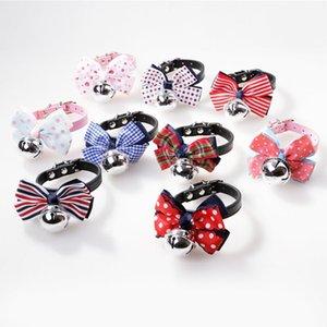 2ST New Hundehalsband Netter Schmetterlings-geformte Glocke Kragen Hund Katze Kleintiere Kette einstellbare Weihnachten Geburtstag Bow Ties Halsbänder