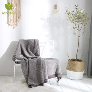 Mrosaa 130x160cm weiche warme Polyester Strickdecke Winter-Blatt Bedspread Sofa werfen Licht mechanische Waschdecken