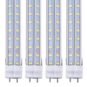 4 pies LED Bombilla 4 pies de tubo LED T8 60W 6000K luz fluorescente blanca fría de fábrica al por mayor de 60W V-Light en forma de tienda conducido