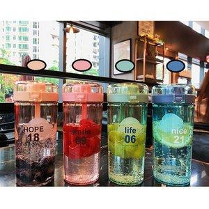 New Water Cup Bounce Abdeckung Sport Kessel Tragbare Sealed Leak-Proof Geschenk Cup Außenplastikwasserflaschen GWB1925
