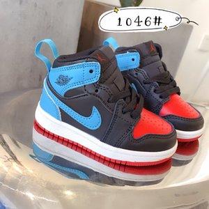 1 1s Chaussures Enfants Basketball PRÉSCOLAIRE Jeunesse Chicago Signed Haut New Born Baby Infant Toddler Formateurs Petit Designer Garçons Filles Sneaker