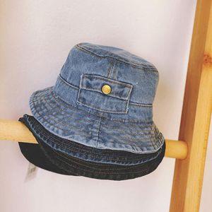 New Arrivals spring and autumn children's vintage cowboy bucket hat, girl's basin hat, boy's fisherman Leisure cap Gorras