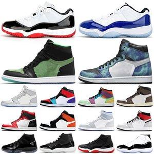 air retro 1 11 jumpman chaussures de basket-ball 11 s Bred Cap and Gown Concord 1 s UNC Obsidian Union femmes hommes formateurs baskets de sport