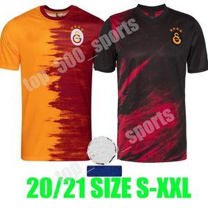 20 21 GalatasAray Falcao Futebol Jerseys 2020 2021 Camiseta de Fútbol Seri Belhanda Luyindama Josemir Lemina Home Away Camisas de futebol Patch
