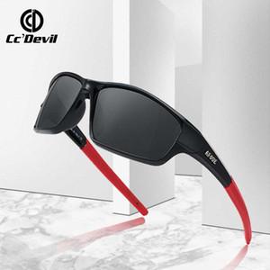 2020 di sport di marca degli occhiali da sole polarizzati Uomini protezione UV400 ordito intorno al sole Occhiali per la pesca guida di viaggio