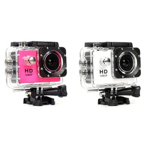 2 Set 480P Motorcycle Dash Sports Action Video Camera Motorcycle Dvr Full Hd 30M Waterproof, White & Pink