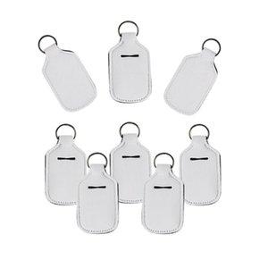 Sublimation Blank Printing Colors Neoprene Liquid Soap Bottle Holder 30ml Hand Sanitizer Bottle Holder Keychain HHF1721