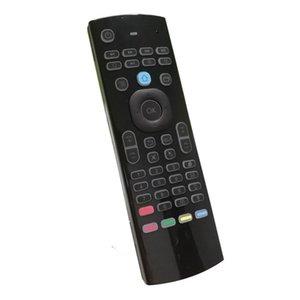 T3 Backlight Mic 2 .4g Fly Air Mouse com microfone T3 -M Mini Keyboard Ir Aprendizagem controle remoto sem fio Gamepad retroiluminado