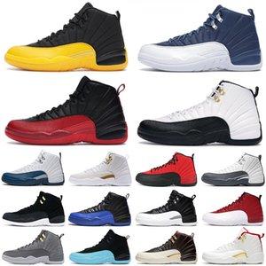 nike air jordan retro 12 Erkek Basketbol Ayakkabıları 12s jumpman Üniversitesi Altın Indigo Grip Oyunu Kraliyet Usta Koyu Concord Gri Beyaz erkekler spor ayakkabı boyutu 7-13