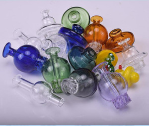 Colorful Glass UFO Carb Cap for 2mm 3mm 4mm quartz Thermal Quartz Nail glass water pipe smoke accessory