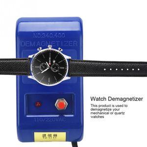 Herramienta Profesional Desmagnetice ZJCHAO reloj Desmagnetizador la reparación del reloj del destornillador pinzas de relojero eléctrico enchufe de la UE