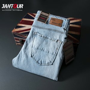 High quality Streetwear Men Jeans Washed Destroyed Ripped Jeans Men Brand Designer Italian Style Vintage Classical homme