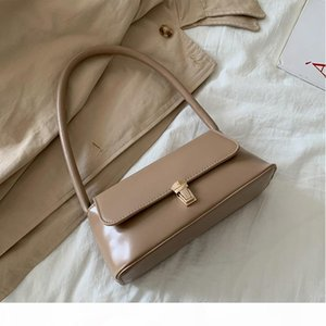 2020 New Style Elegant Baguette Bag Women's Retro Simple Leather Shoulder bag Armpit Celebrity Mini Handbag Bolsas Feminina