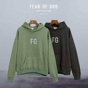 Die Furcht vor Gott Hoodies Essentials-FG 3M Reflection Print FOG Mann mit Kapuze Vlies-Winter-warmer Pullover Frau Pullover Mode für Männer Hoody Lockere