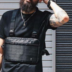 Alyx Chest Rig Bag Streetwear Waist Bag Black Hip Hop Fanny Pack Men Adjustable Tactical Streetwear Chest Bags Kanye Waist Packs ig5c#