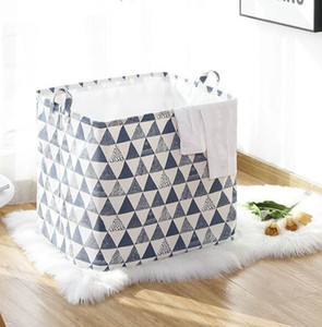 Folding Storage Box Laundry basket Sundry Receive Cotton and Linen Storage Bag Kid's toy Receive basket