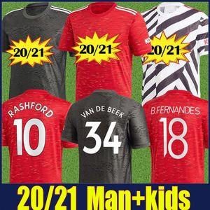 2020 Red Devil Man Utd Pogba B.FERNANDES soocer Jersey Kinder-Kit Manchester Rashford VAN DE BEEK Fußball Jersey MAGUIRE WAN-BISSAKA Jersey