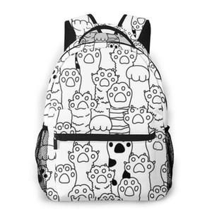Backpack Casual Travel Bag Cat Breed Kitten Dog Pattern School Bag Fashion Shoulder For Teenage Girl Bagpack